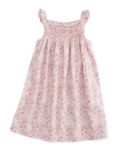 Tilt Floral-Print Smocked Dress