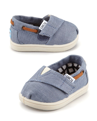 TOMS Tiny Chambray Bimini Shoe, Blue