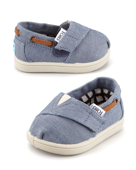 Tiny Chambray Bimini Shoe, Blue