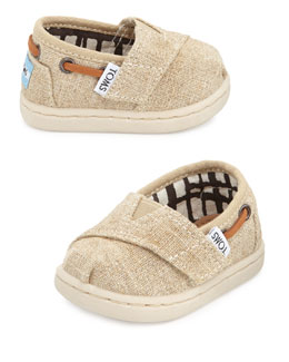 TOMS Tiny Burlap Bimini Shoe, Natural