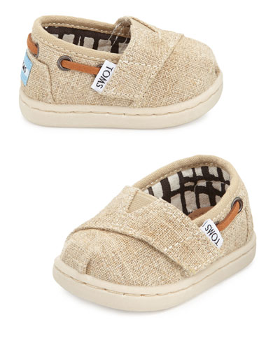 Tiny Burlap Bimini Shoe, Natural