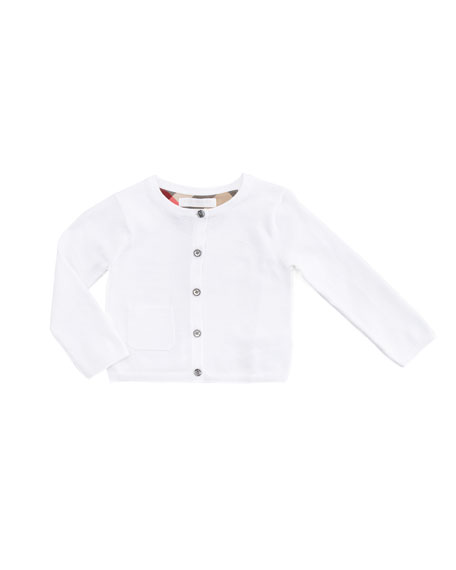 Cotton Cardigan. White