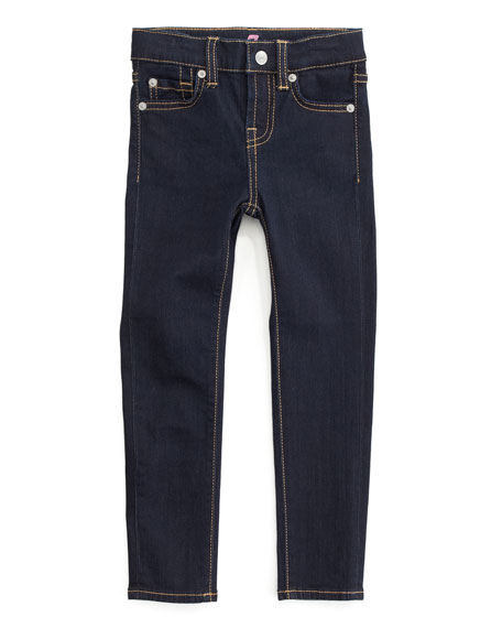 Skinny Rinse Jeans, Sizes 4-6X