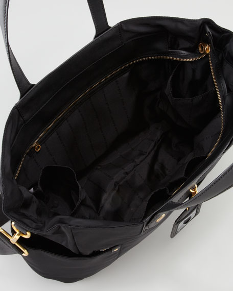 MARC by Marc Jacobs Eliz-A-Baby Preppy Nylon Diaper Bag, Black