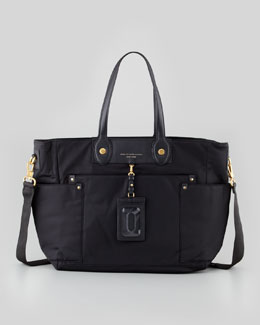 MARC by Marc Jacobs Eliz-A-Baby Preppy Nylon Diaper Bag, Black