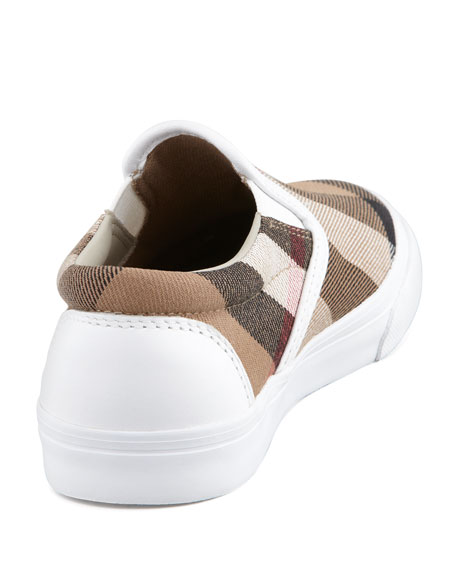 White Check Slip-On Sneaker, Toddler