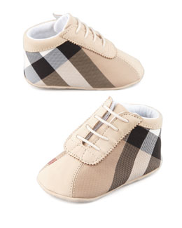 Burberry Check Canvas Bootie, Baby