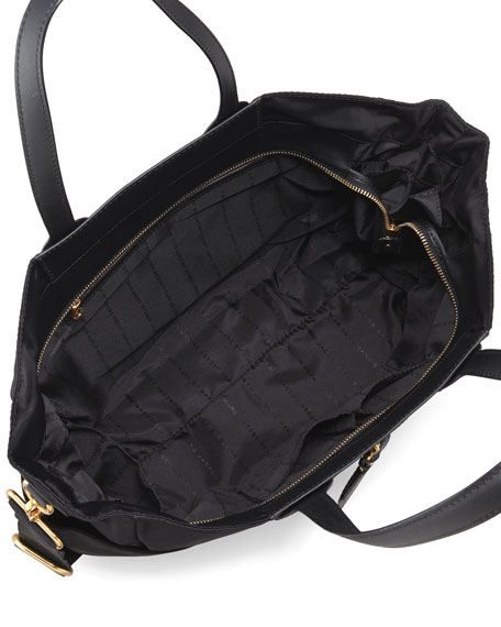 Preppy Nylon Eliz-A-Baby Diaper Bag, Black