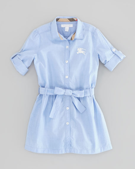 Girls' Striped Shirtdress
