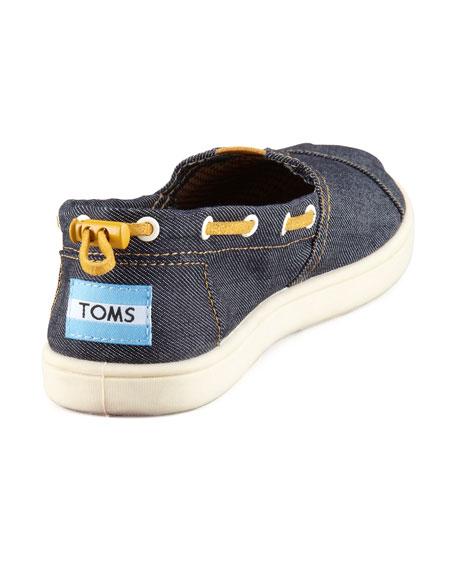 Denim Bimini Boat Shoe, Youth