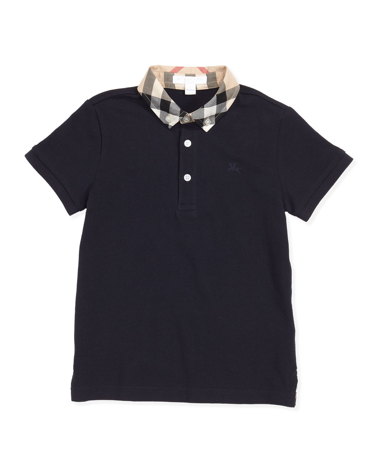 e3e9a245c Burberry William Check-Collar Polo