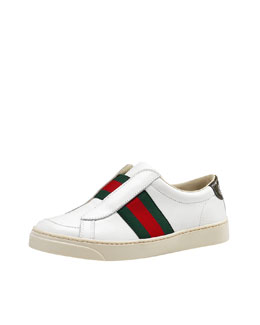 Gucci Brooklyn Laceless Leather Sneaker