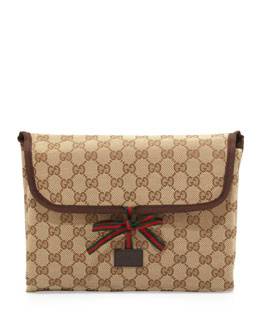 Gucci GG Supreme Changing Pad, Brown