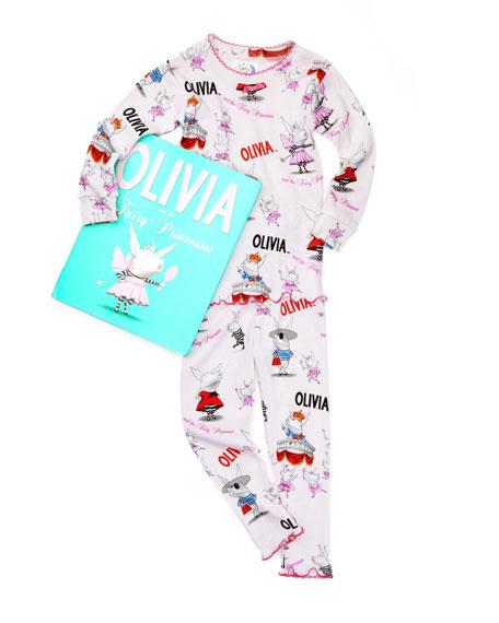 Olivia and the Fairy Princess Pajamas and Book Set, 2T-3T
