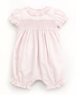 Ralph Lauren Childrenswear Smocked Bubble Playsuit, 3-9 Months