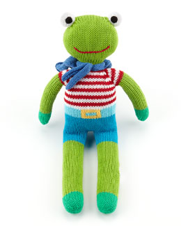 Zubels Super-Hero Frog Knit Doll
