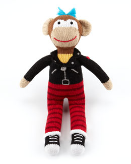 Zubels Boys' Rock Monkey Knit Doll