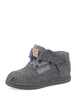 TOMS Tiny Tartan Botas Shoe, Dark Blue