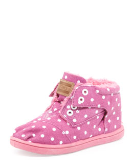 TOMS Tiny Dot Botas Shoe, Magenta
