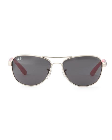 Kid's Aviator Sunglasses, Silver