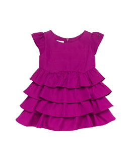 Gucci Bougainvillea Ruffle Dress, Pink, 0-24 Months