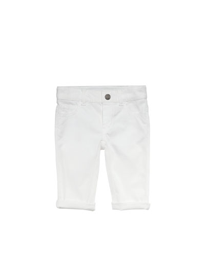 Gucci Denim Web-Detail Jeans, White, 0-24 Months