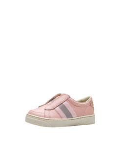 Gucci Brooklyn Leather Slip-On Sneaker, Pink