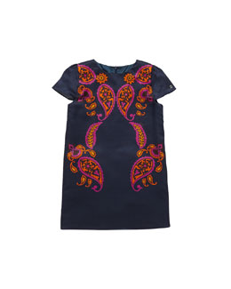 Gucci Paisley-Print Shift Dress, Multi, Sizes 4-10