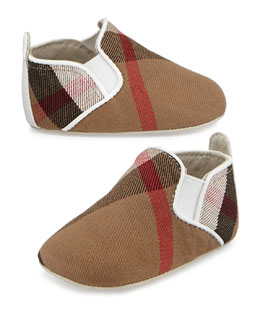Burberry Check Slip-On Sneaker, Newborn