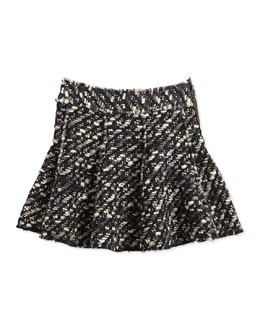 Lanvin Tweed Skirt, Black/White, Girls' 10-12
