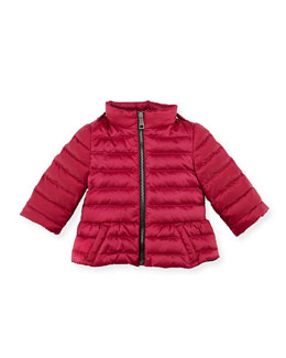 Burberry Shiny Nylon Puffer Coat, Pink, 6-24 Months