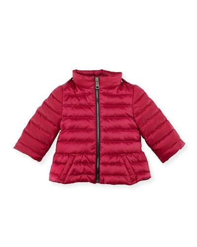 Burberry Shiny Nylon Puffer Coat, Pink, 6-24 Months