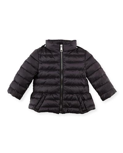 Burberry Shiny Nylon Puffer Coat, Black, 6-24 Months