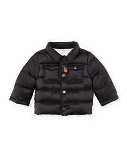 Burberry Nylon Puffer Coat, Black, 3M-2Y