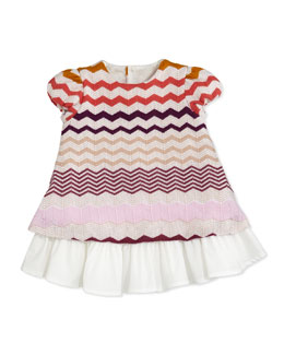 Missoni Zigzag Knit Dress, Pink/Multi, 0-9 Months