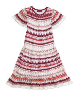 Missoni Zigzag Knit Drop-Waist Dress, Girls' Sizes 2-10
