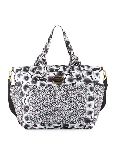 MARC by Marc Jacobs Pretty Nylon Ali Floral Eliza Baby Bag, Lead (Gray)/Multi