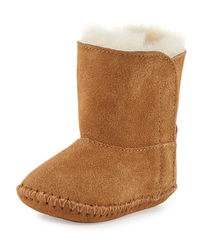 Infant Caden Suede Bootie, Chestnut