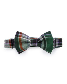 Baby Bow Tie Plaid Baby Bow Tie, Green/Purple