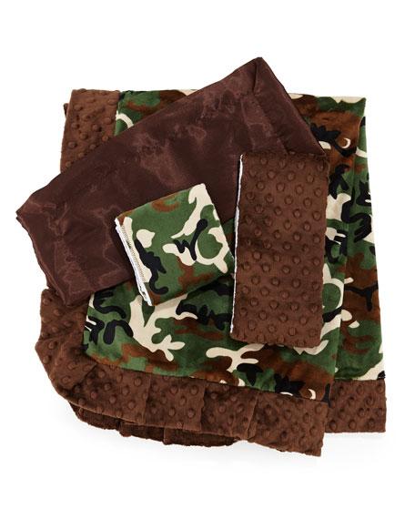Camouflage Burp Cloth Set, Brown