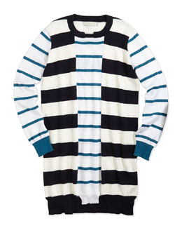 Stella McCartney Striped Cotton/Cashmere Sweater Dress, 2Y-14Y