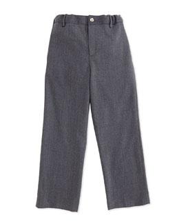 Classic Wool-Blend Pants, Gray, 2Y-10Y