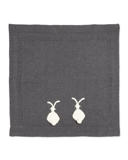 Stella McCartney Knit Bunny Baby Blanket, Gray