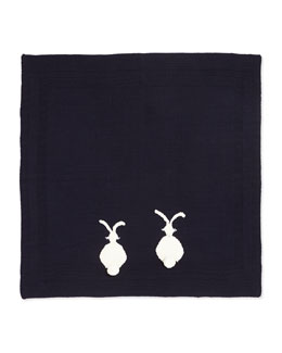 Stella McCartney Knit Bunny Baby Blanket, Navy