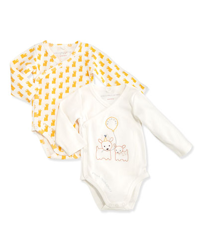 Stella McCartney Birdie Baby Long-Sleeve Playsuit Set, Ivory, 3-18 Months