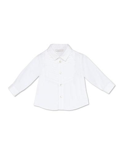 Stretch-Cotton Tuxedo Shirt  White  3-36 Months