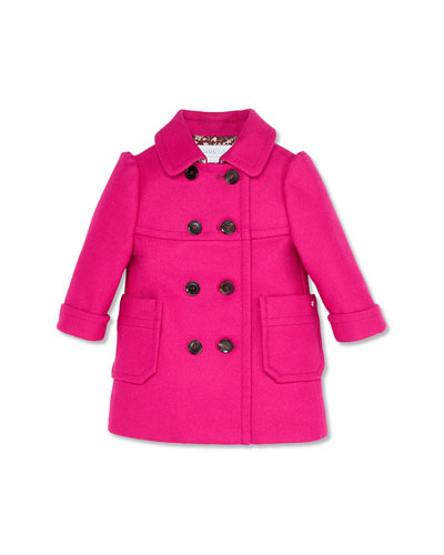 GUCCI Double-Breasted Coat, Violet,