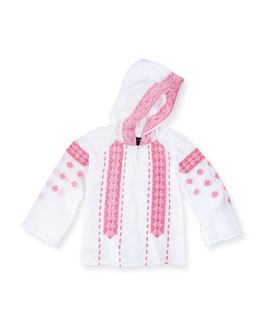 Ralph Lauren Childrenswear Gauze Boho Hooded Top, Girls' 2T-3T