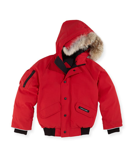 Canada Goose Rundle Bomber w/Detachable Fur Trim, Red,