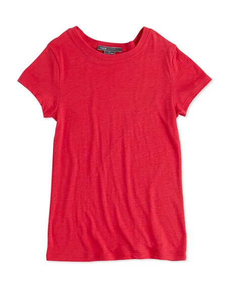Vince Girls' Favorite Tee, Raspberry, S-XL